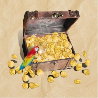 Pirate's Treasure Chest on Crinkle Paper Statuette