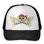 Pirates Treasure Map Mesh Hats