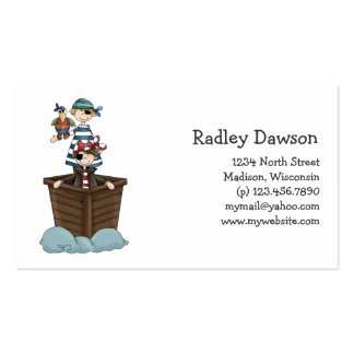 Pirates · Two Pirates in a Boat Double-Sided Standard Business Cards (Pack Of 100)