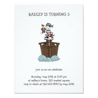Pirates · Two Pirates in a Boat 4.25x5.5 Paper Invitation Card