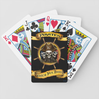 Pirates Watch Your Booty! Bicycle Playing Cards