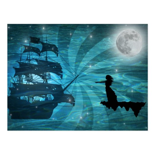 Pirates widow postcard
