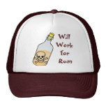 Pirates Will Work for Rum Mesh Hats