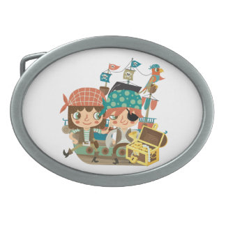Pirates With Treasure Belt Buckles