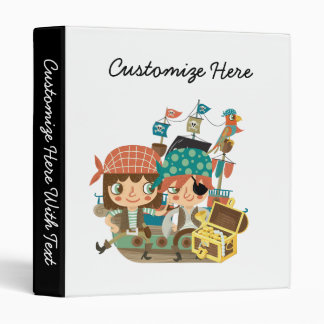 Pirates With Treasure 3 Ring Binder