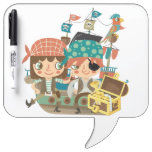 Pirates With Treasure Dry-Erase Board
