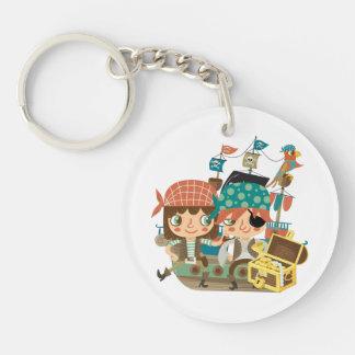 Pirates With Treasure Acrylic Keychain