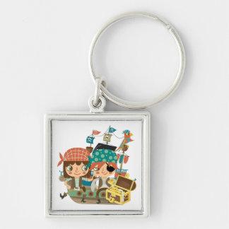 Pirates With Treasure Key Chains