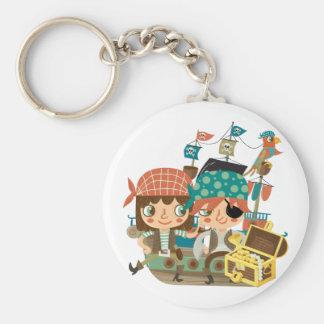 Pirates With Treasure Key Chain