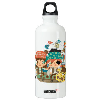 Pirates With Treasure Water Bottle
