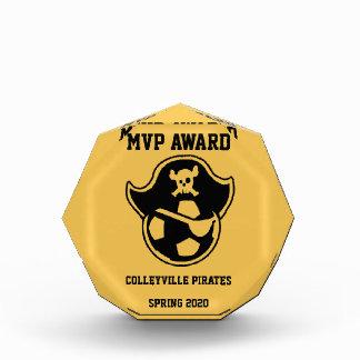 Pirates Youth Soccer Team or Club Logo Acrylic Award