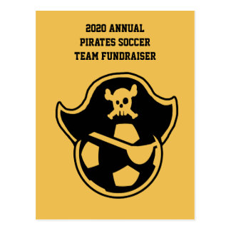 Pirates Youth Soccer Team or Club Logo Postcard