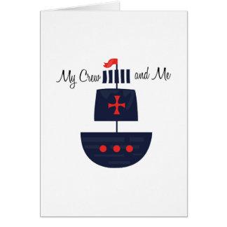 PirateShip  MyCrewandME Greeting Card