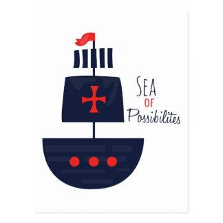 PirateShip  SeaofPossibilities Postcard