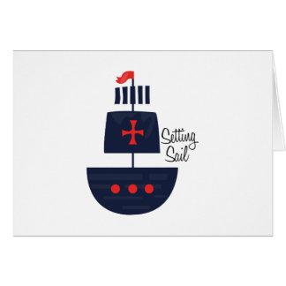 PirateShip  SettingSail Greeting Card