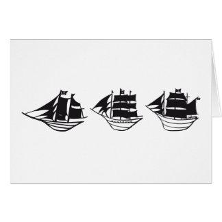 pirateships blank greeting card