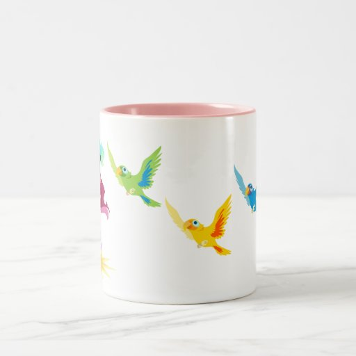 Piratess and Parrots mug! Two-Tone Coffee Mug