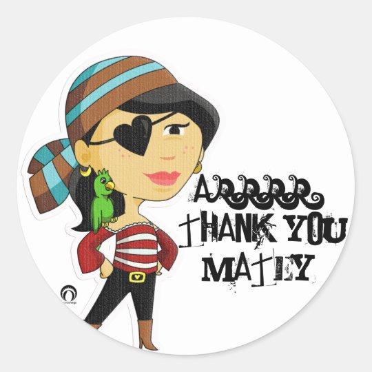PiraTess Thank You Sticker