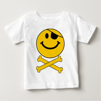 Piratey eyepatch Smiley Skull & Cross Bones Baby T-Shirt