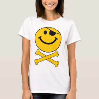 Piratey eyepatch Smiley Skull & Cross Bones T-Shirt