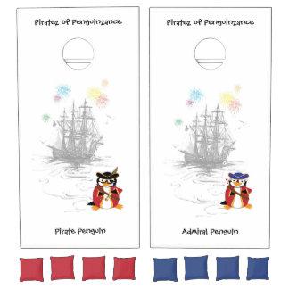 Piratez of Penguinzance Cornhole Set
