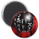 Piratical Sphere Fridge Magnets