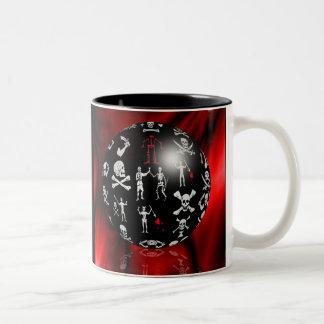 Piratical Sphere Two-Tone Coffee Mug