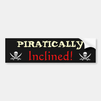 Piratically Inclined Bumper Sticker