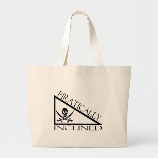 Piratically Inclined Large Tote Bag