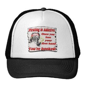 pirating is adictive trucker hat