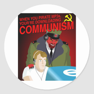 Pirating Music Is Communism Stickers
