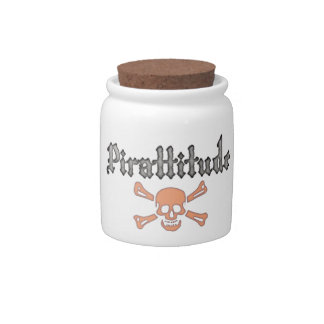 Pirattitude Blood Jolly Roger Candy Dishes