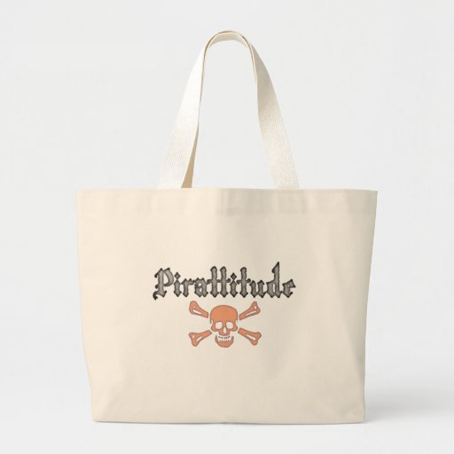 Pirattitude Blood Jolly Roger Canvas Bags
