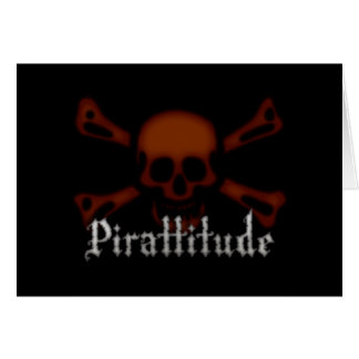 Pirattitude Blood Jolly Roger Greeting Card