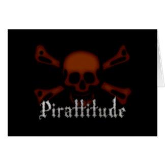 Pirattitude Blood Jolly Roger Greeting Card