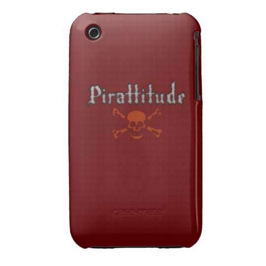 Pirattitude Blood Jolly Roger iPhone 3 Cover