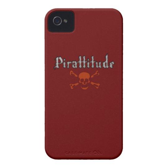 Pirattitude Blood Jolly Roger iPhone 4 Case