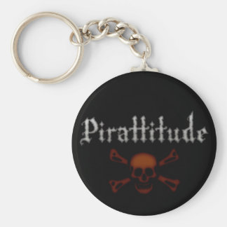 Pirattitude Blood Jolly Roger Keychain