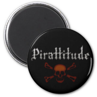 Pirattitude Blood Jolly Roger Magnet