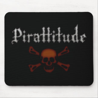Pirattitude Blood Jolly Roger Mouse Pad