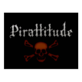 Pirattitude Blood Jolly Roger Postcard