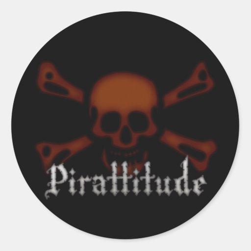 Pirattitude Blood Jolly Roger Sticker
