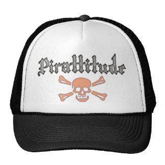 Pirattitude Blood Jolly Roger Trucker Hat