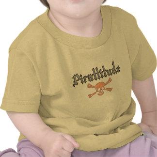 Pirattitude Blood Jolly Roger T-shirts