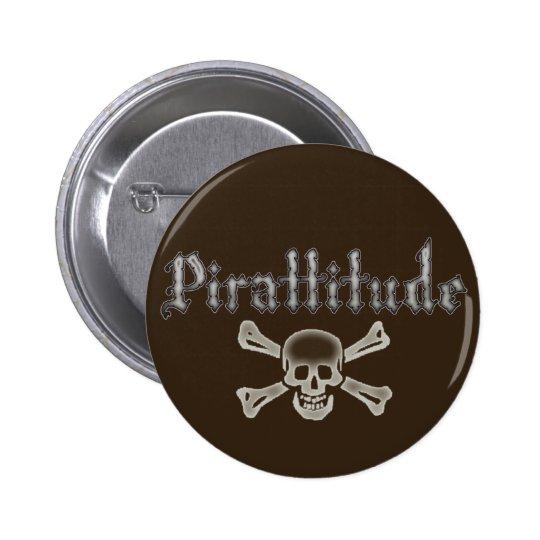 Pirattitude Bone Jolly Roger Button