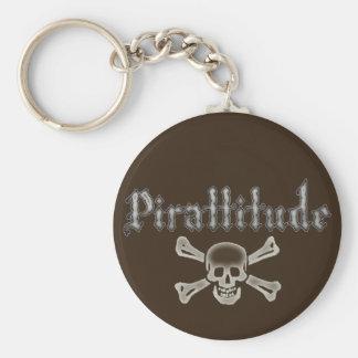 Pirattitude Bone Jolly Roger Keychain