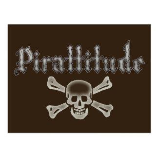 Pirattitude Bone Jolly Roger Postcard