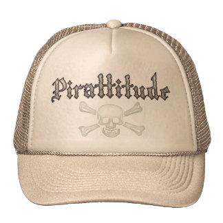 Pirattitude Bone Jolly Roger Trucker Hat