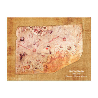 Piri Reis Map Canvas Print