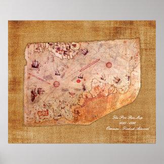 Piri Reis Map Poster